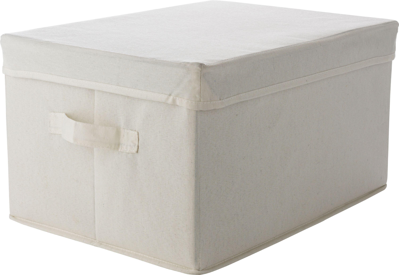 HOME Single Fabric Drawer Storage Box   Cream