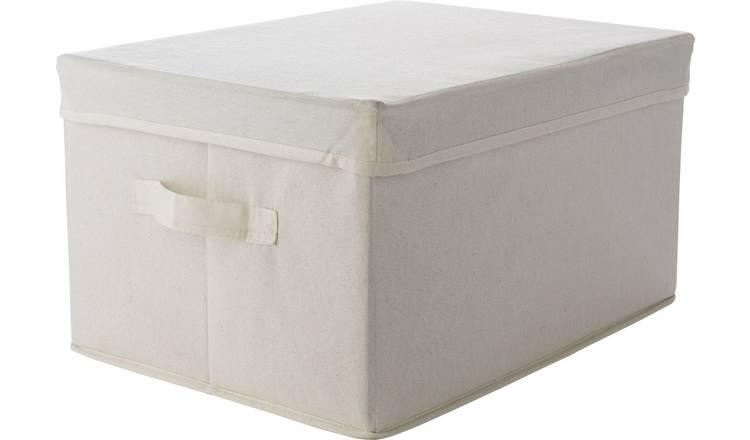 Storage Boxes Cream Argos Home Single Fabric Drawer Storage Box