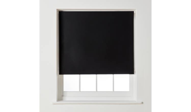 Argos Home Blackout Roller Blind - 2ft - Black