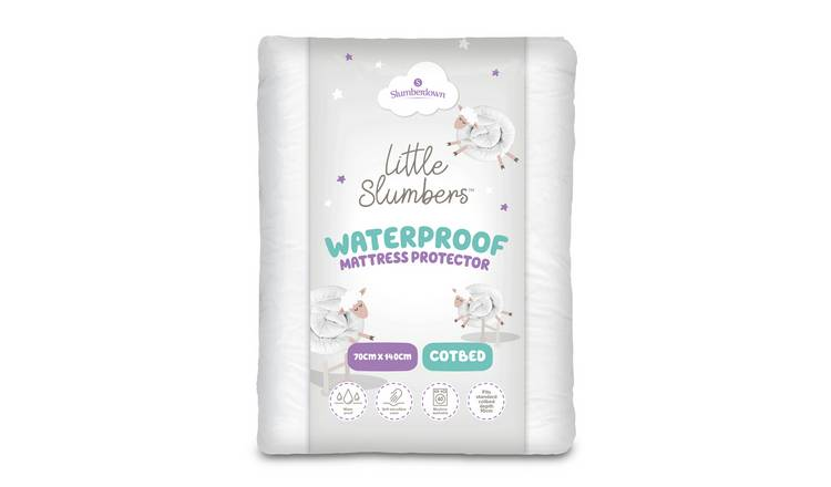 Little Slumbers Waterproof Soft Mattress Protector - Cot