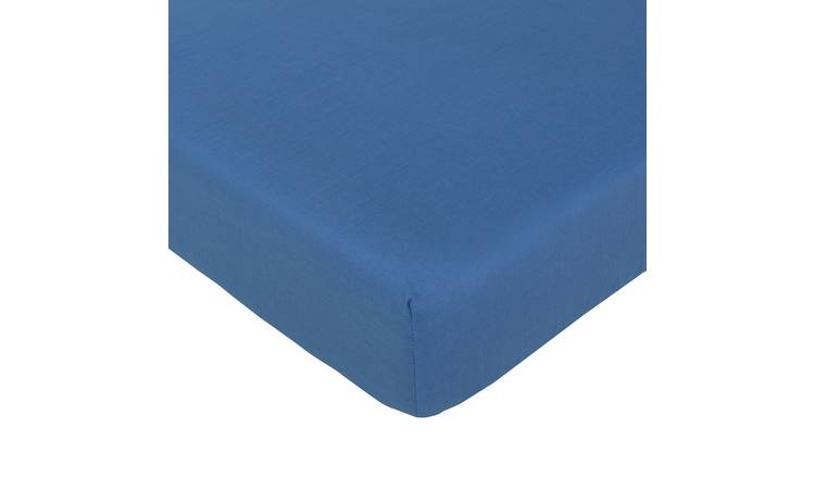 Argos Home Easycare Polycotton 28cm Fitted Sheet - Toddler