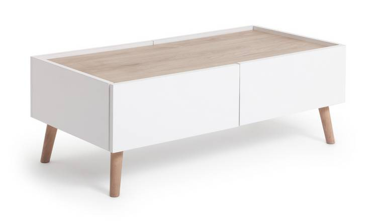 Habitat Skandi 2 Drawer Coffee Table - White Two Tone