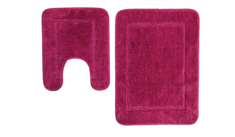 Argos Home Bath and Pedestal Set - Berry