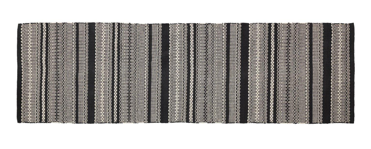 Habitat Agnes Rug - 75x250cm - Black & White