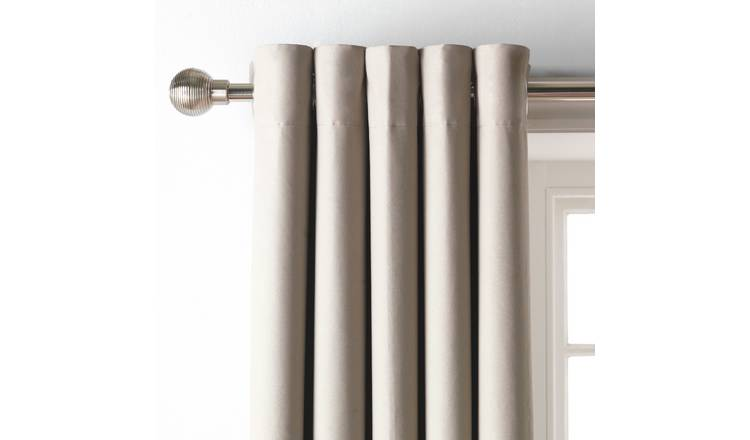 Argos Home Blackout Eyelet Curtain - Mocha