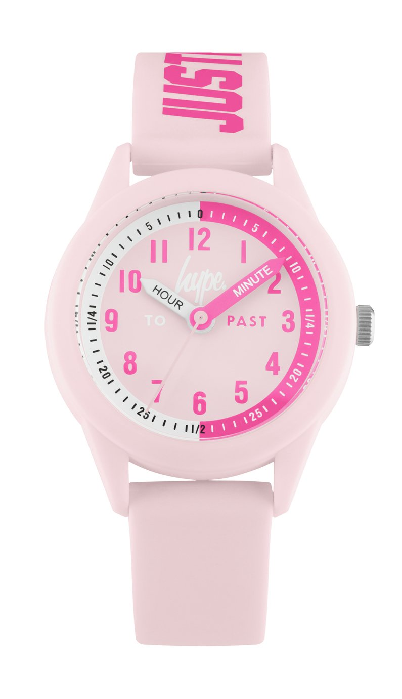 Hype  Pale Pink Silicone Strap Watch