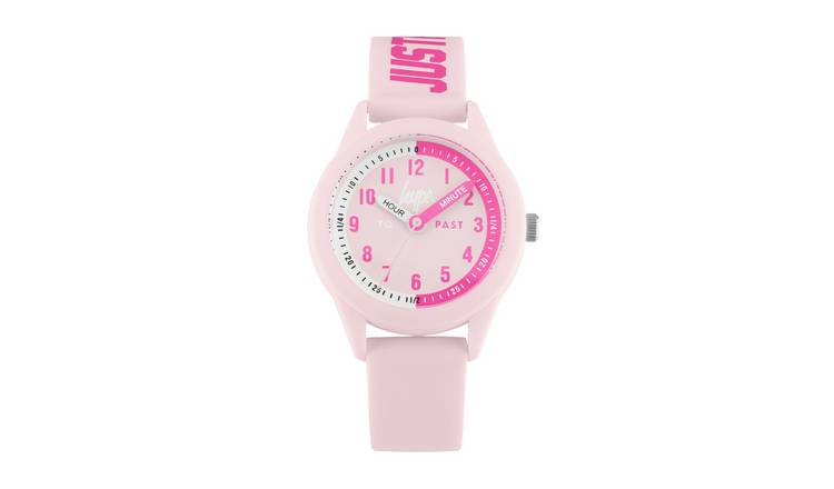 Hype Kids Pale Pink Silicone Strap Watch