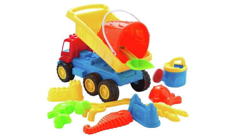Chad Valley Sand Toy Truck and Tools Set