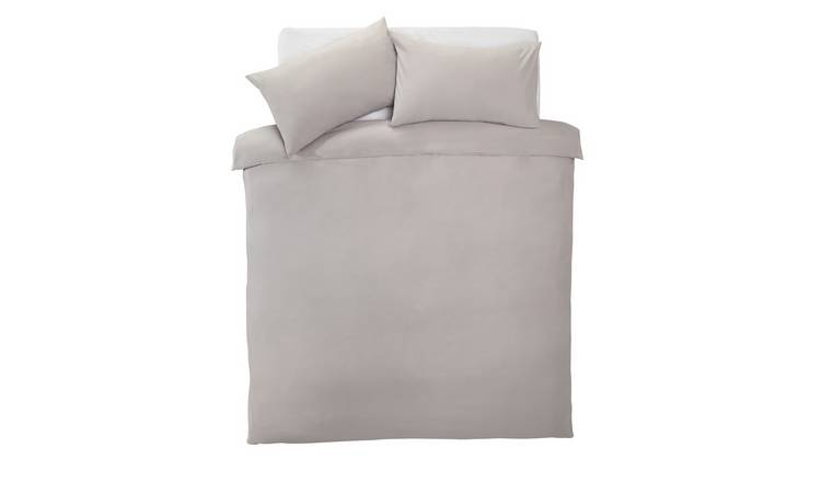 Silentnight Dove Grey Supersoft Bedding Set - Double