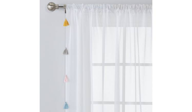Argos Home Tassel Brights Voile Curtain Panel