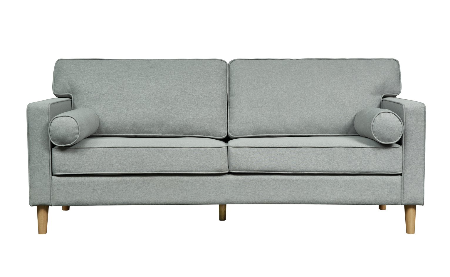 Argos Home Christopher 3 Seater Fabric Sofa - Grey