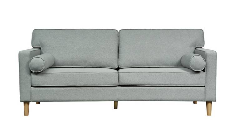 Tremendous Buy Argos Home Christopher 3 Seater Fabric Sofa Grey Sofas Argos Inzonedesignstudio Interior Chair Design Inzonedesignstudiocom