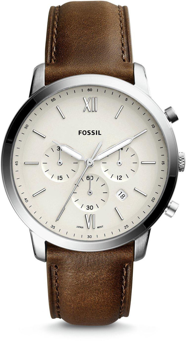 Fossil Men's Neutra Brown Leather Strap Watch