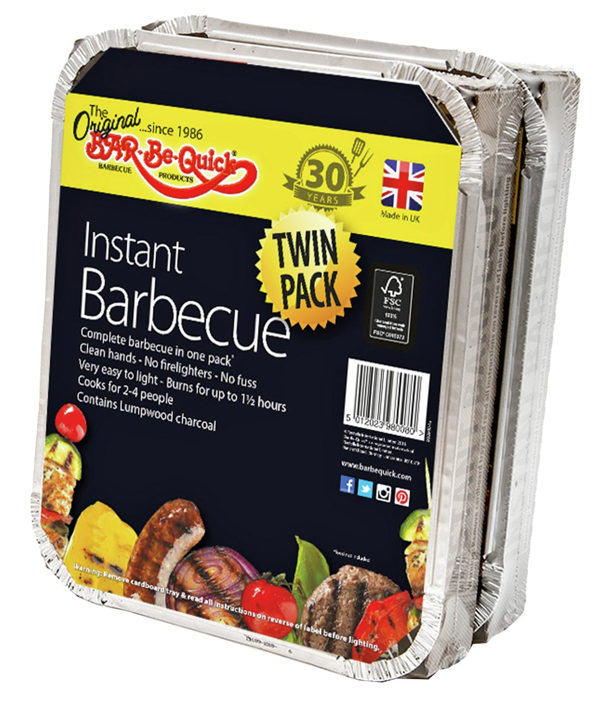 Image of Bar-Be-Quick Instant - Charcoal - BBQ - Twin Pack