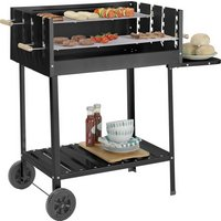 Argos Home Deluxe Charcoal Rectangle Steel Party BBQ