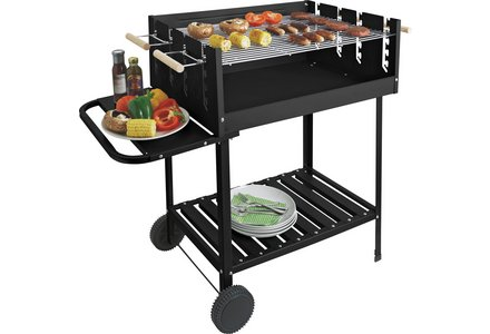 Image of Deluxe Charcoal Rectangle Steel Party BBQ.