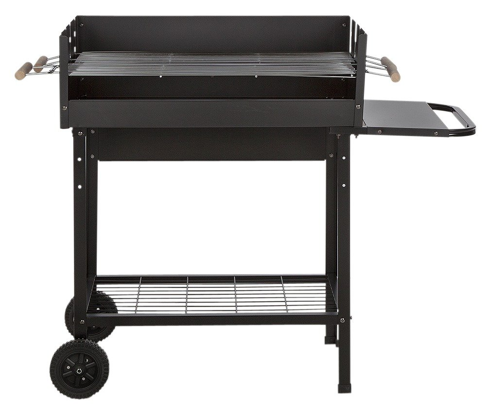 Image of Deluxe Charcoal Rectangle Steel Party BBQ