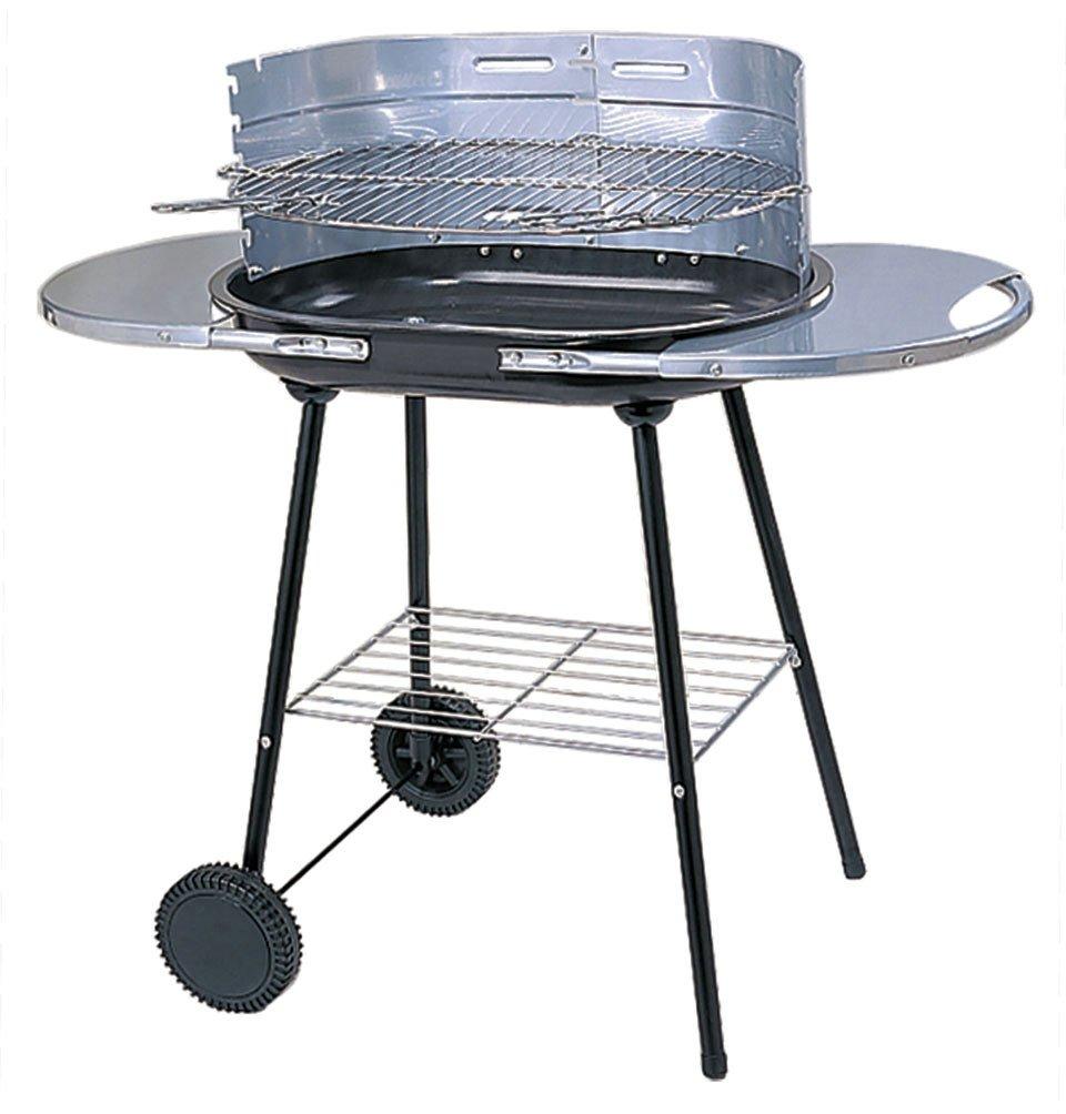 Oval Steel Trolley Charcoal BBQ