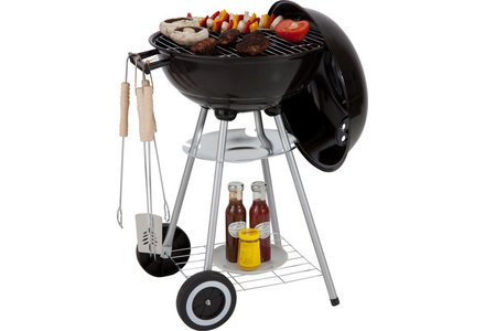 Image of the Kettle BBQ Starter Pack with Utensils and Cover.