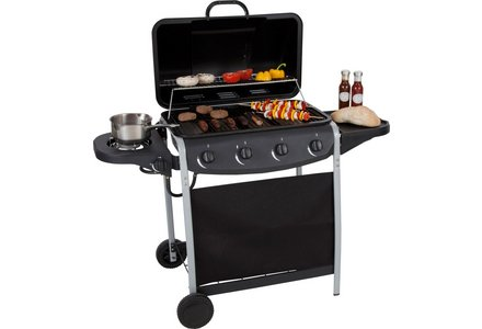 Image of the 4 Burner Propane Gas BBQ with Side Burner.