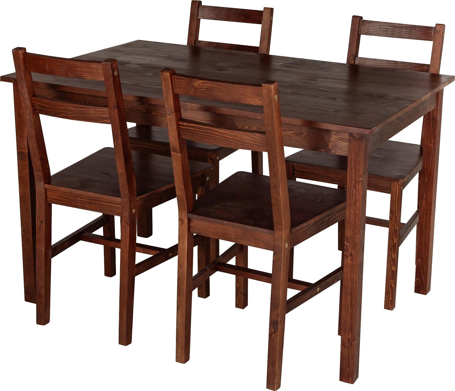 dark wood dining room furniture. home raye solid wood dining table u0026 4 chairs dark pine room furniture t