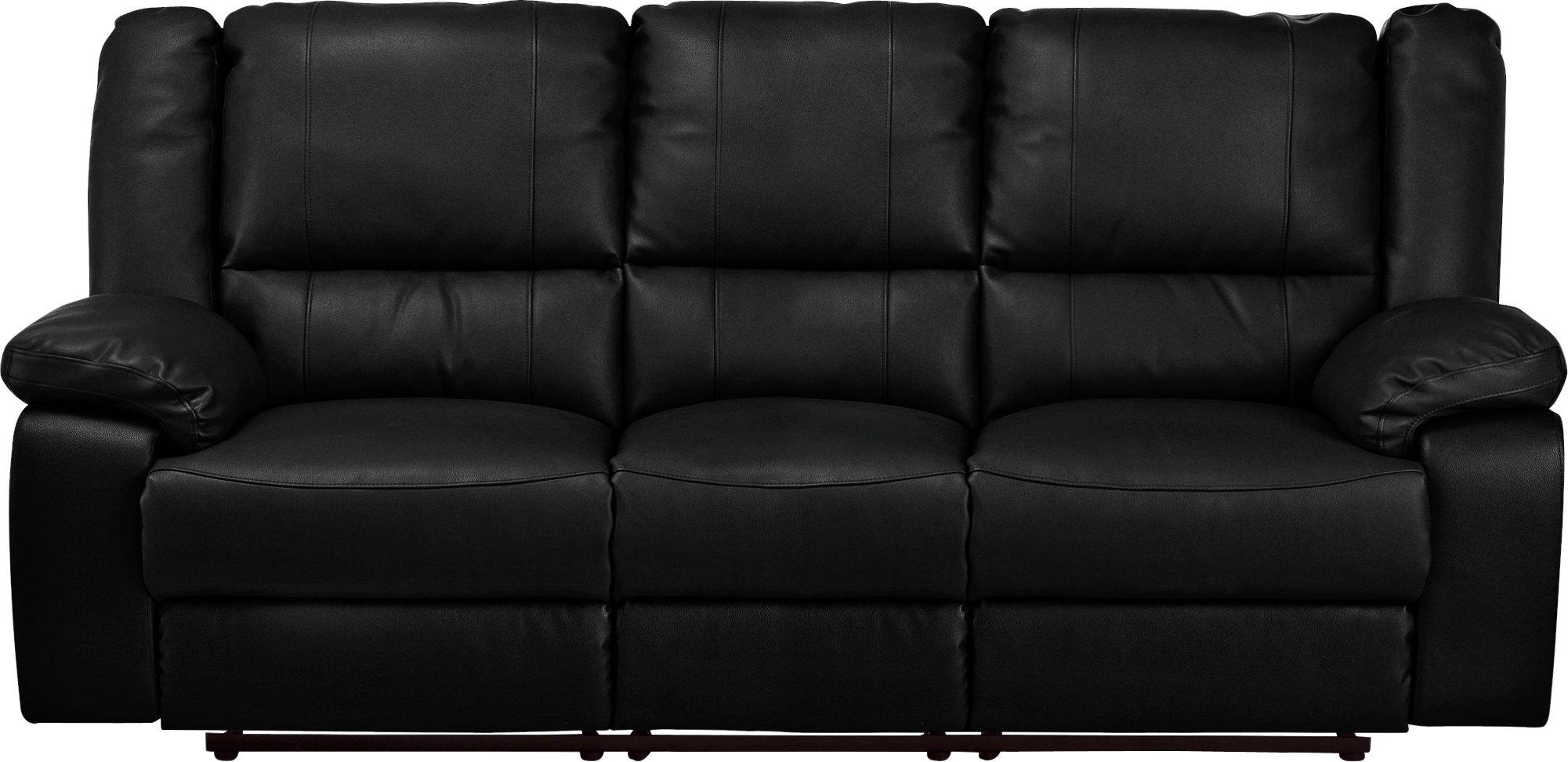 Argos Home Bruno 3 Seater Manual Recliner Sofa - Black