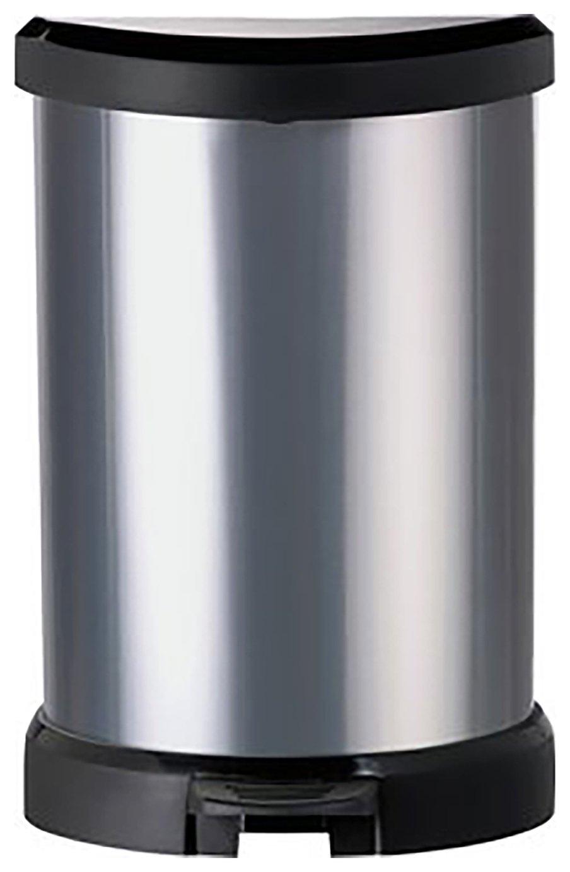Image of Curver 20L Deco Bin - Silver