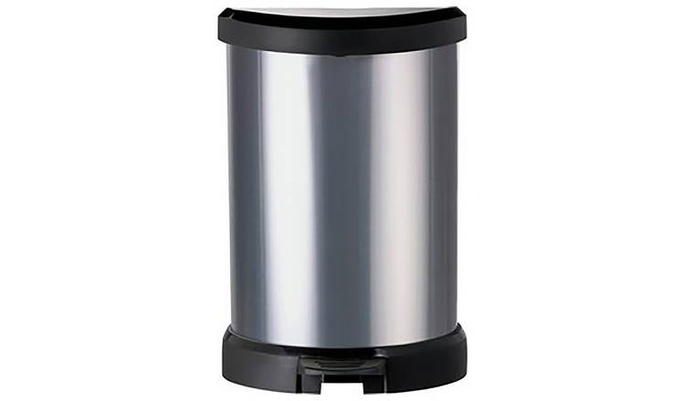Buy Curver Deco 20 Litre Small Kitchen Bin - Silver ...