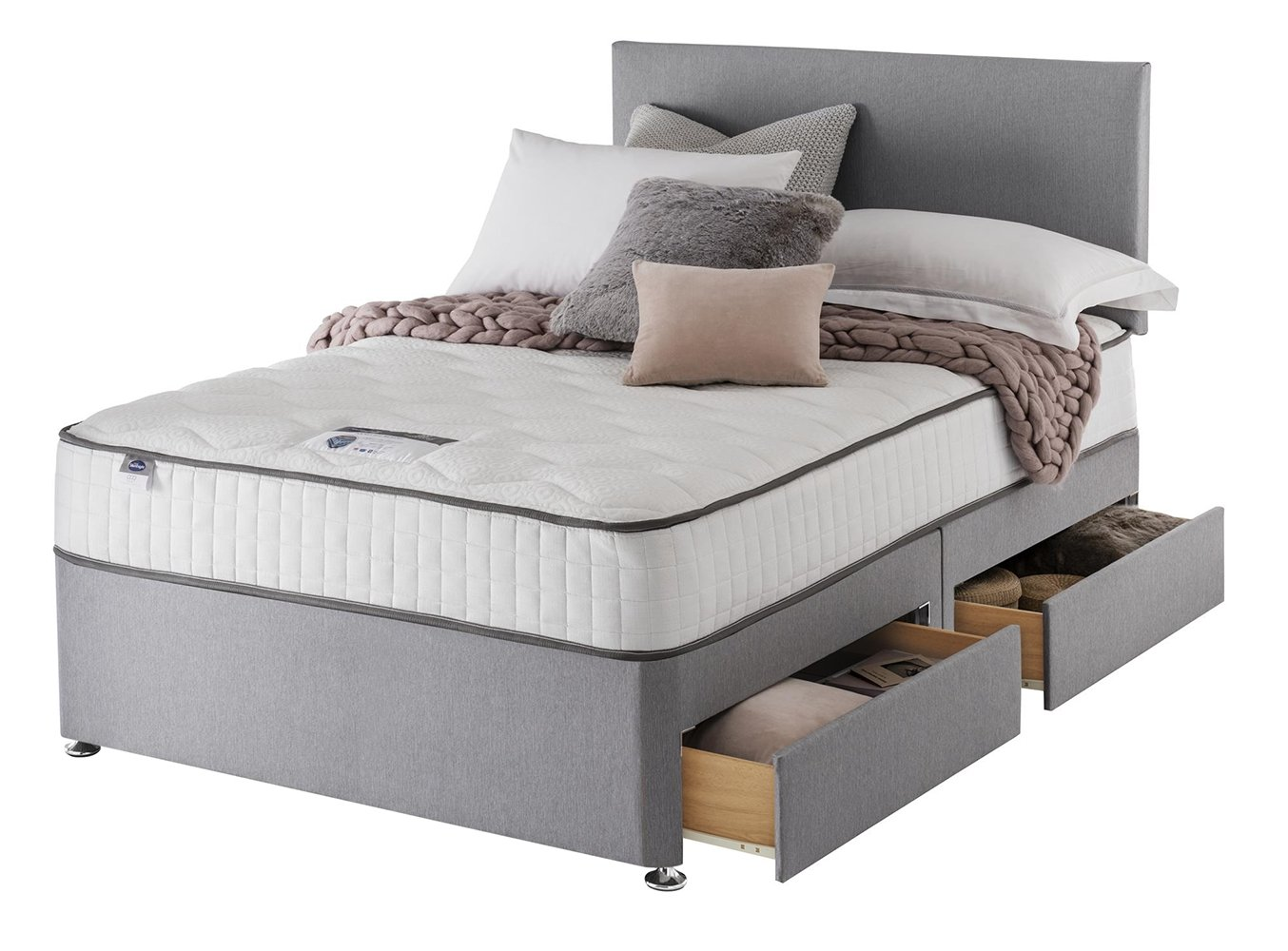 Silentnight middleton pocket memory small double divan for Divan bed offers