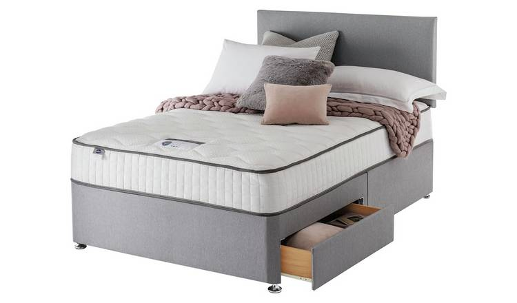 Silentnight Middleton 800 PKT Memory 2DRW Grey King Size