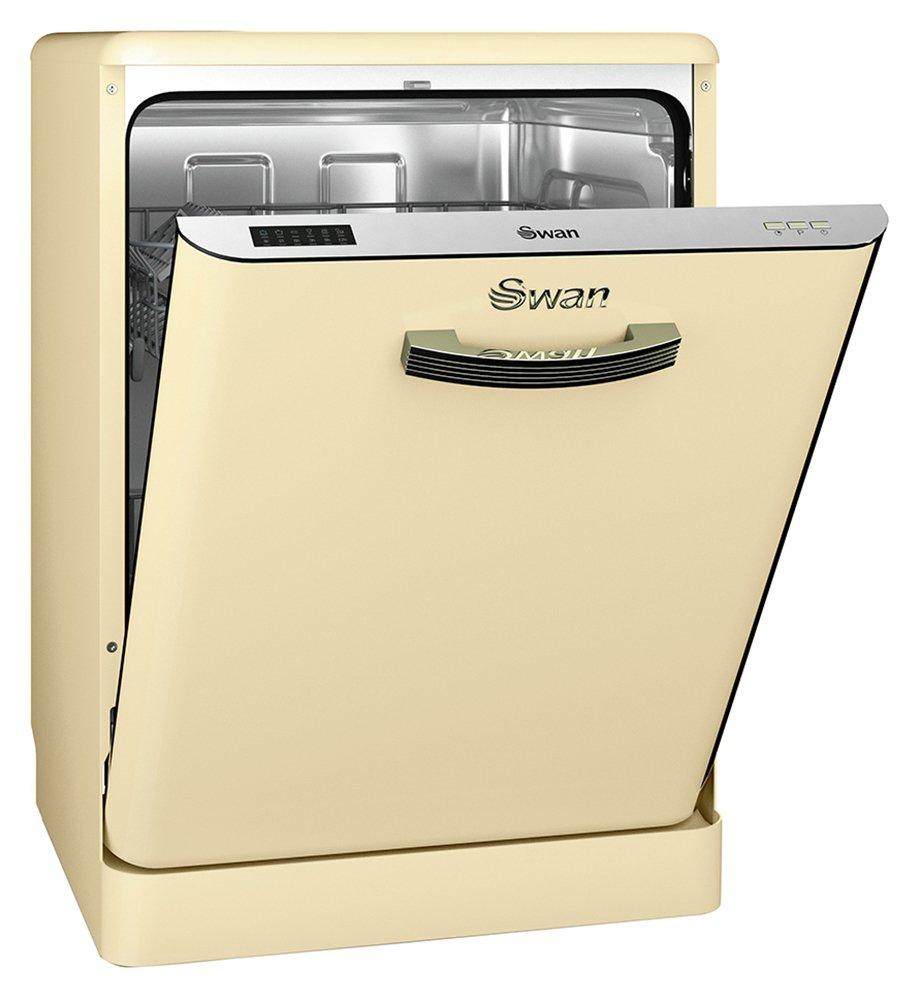 Swan SDW7040CN Retro Dishwasher - Cream.