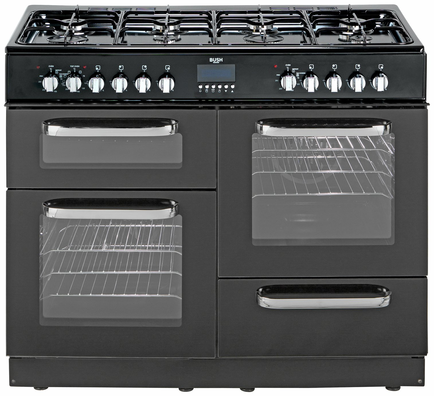 Range Cooker buy bush bclu100dfb dual fuel range cooker black range cookers