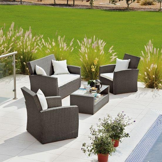 Garden Furniture Argos buy collection bali rattan effect brown 4 seater patio set at