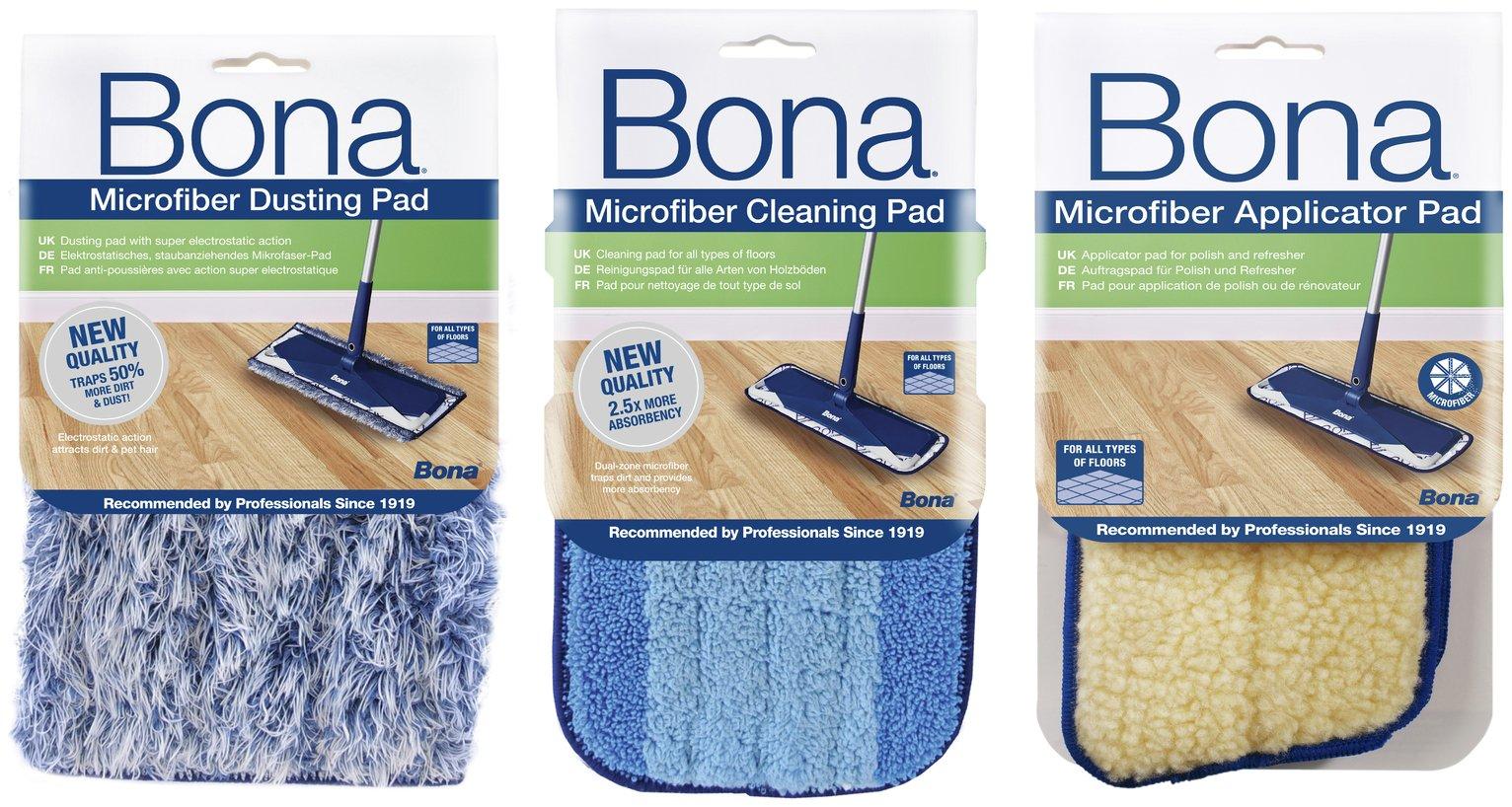 Bona Set of 3 Cleaning and Polishing Pads