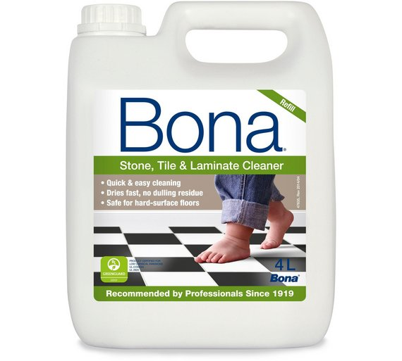 Buy Bona 4l Stone Tile And Laminate Floor Cleaner Refill Cleaning