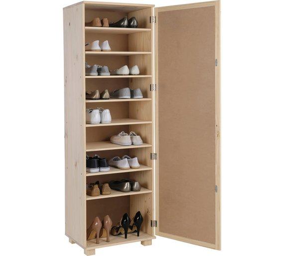 buy home mirrored shoe storage cabinet solid unfinished. Black Bedroom Furniture Sets. Home Design Ideas