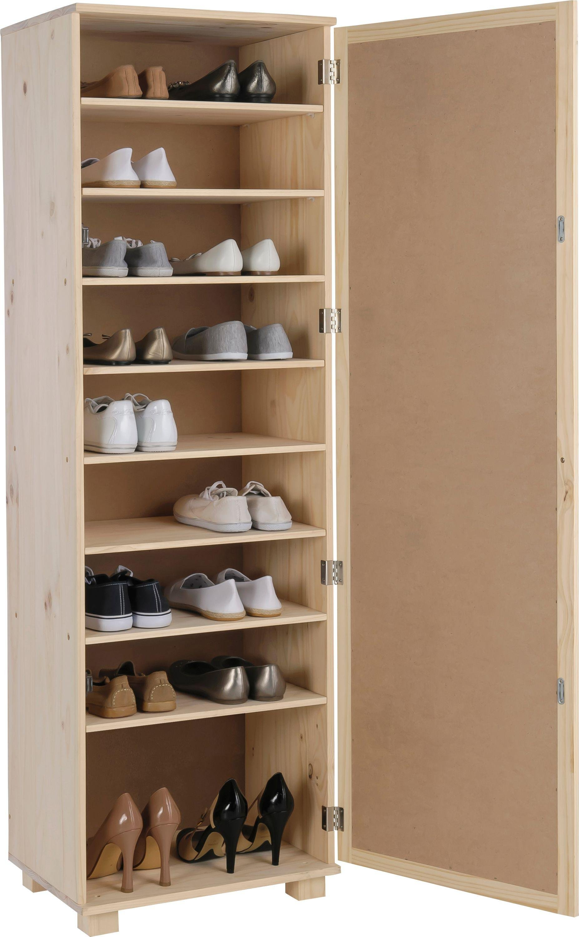 home mirrored shoe storage cabinet solid unfinished pine