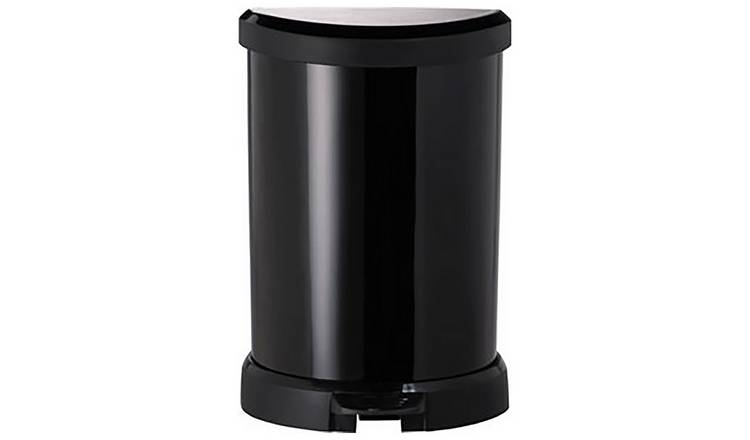 Curver Deco 20 Litre Small Kitchen Bin - Black