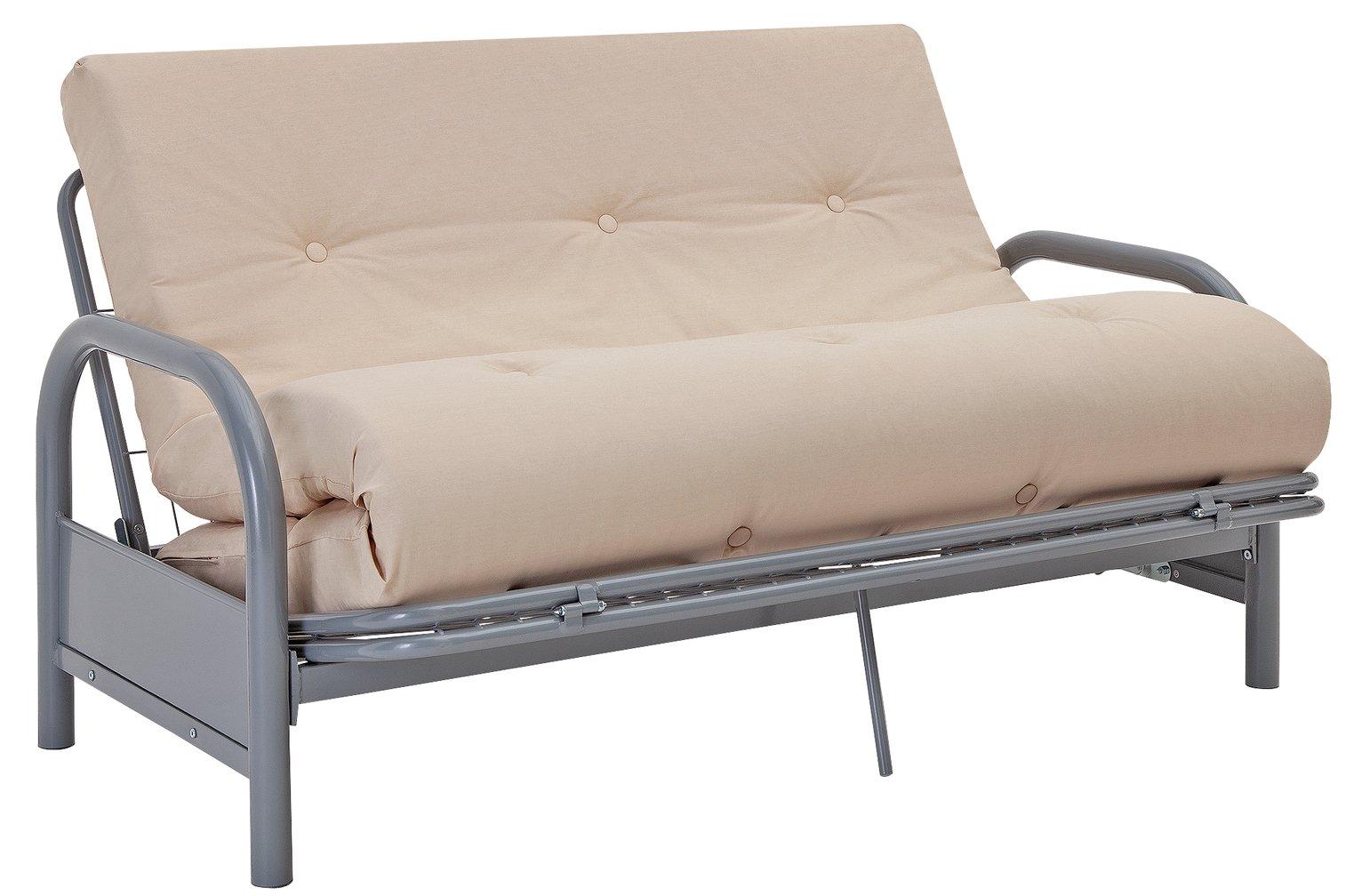 Argos Home Mexico 2 Seater Futon Sofa Bed - Natural