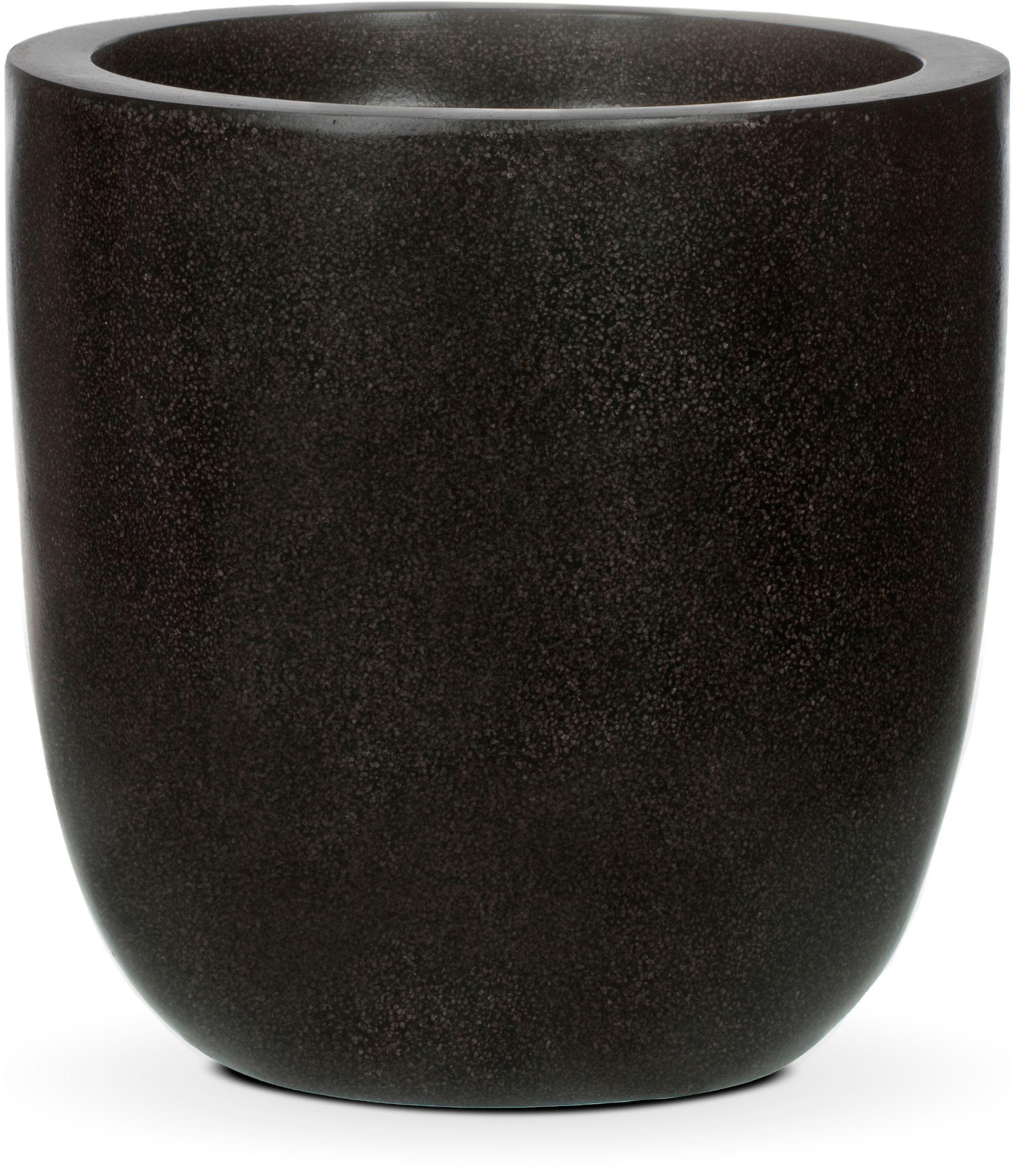 Image of Capi Lux Black Planter Egg - 34 x 34cm.