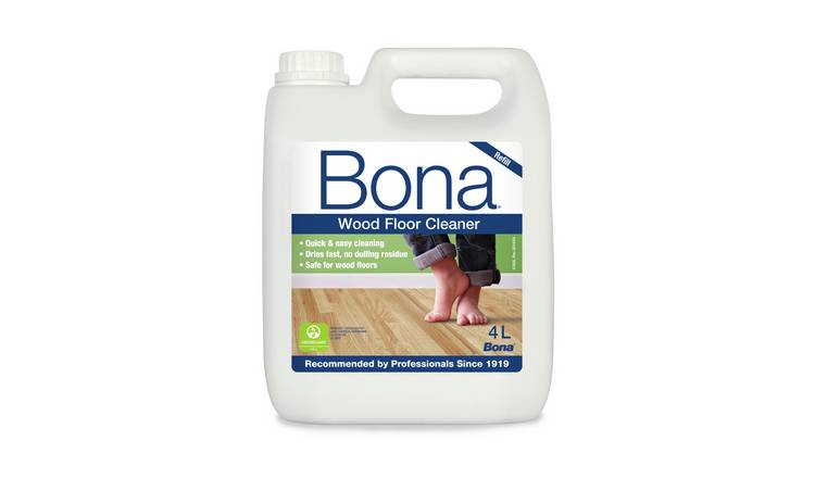 Bona 4L Wood Floor Cleaning Solution Refill