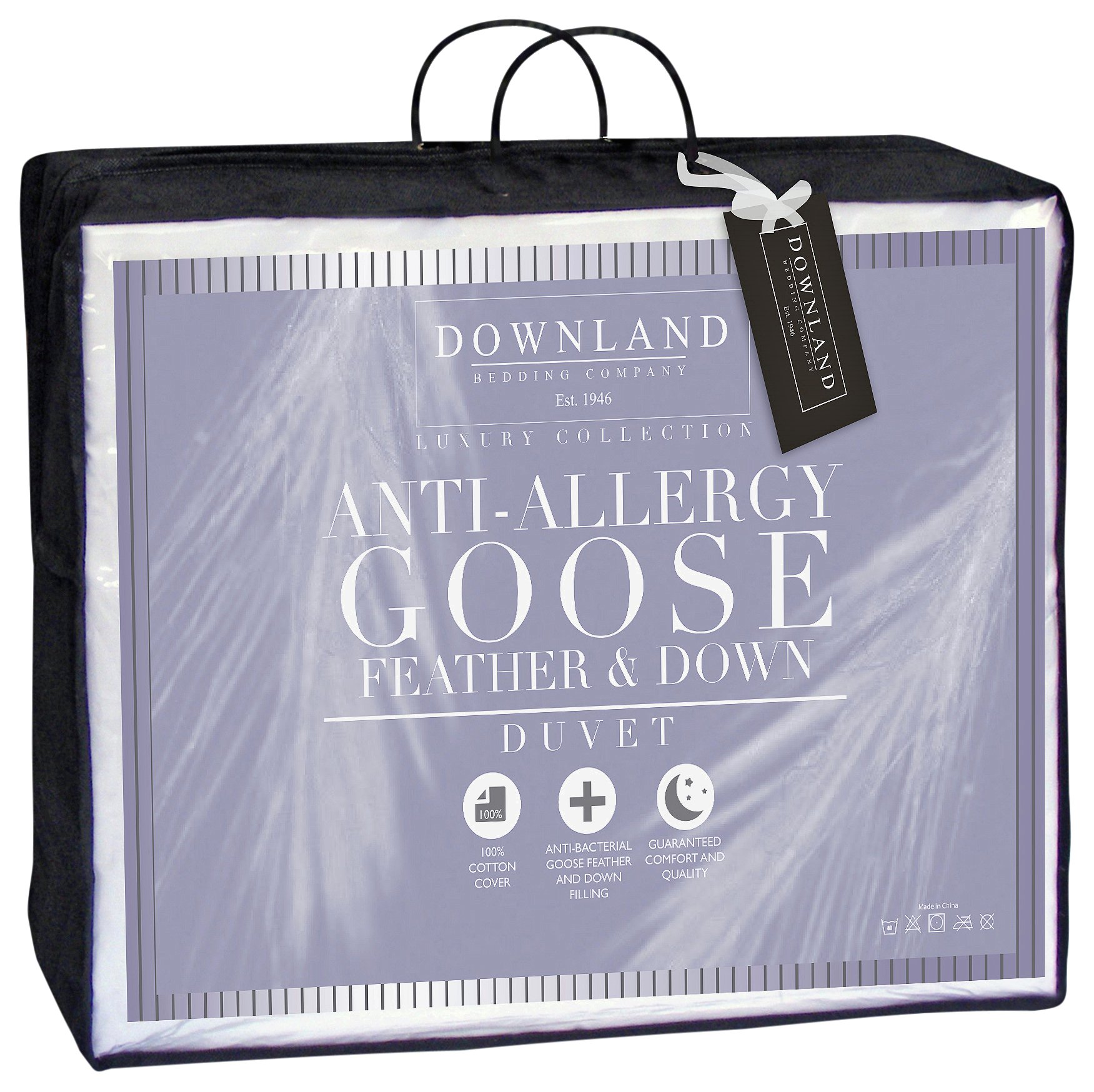 Downland 13.5 Tog Goose Feather and Down Duvet - Single.