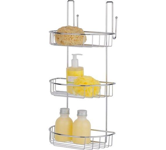 buy home 3 tier extra large shower caddy at. Black Bedroom Furniture Sets. Home Design Ideas