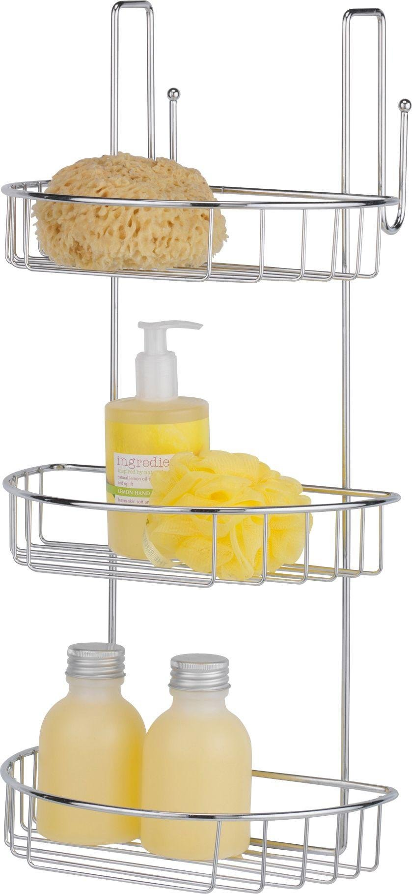 HOME 3 Tier Extra Large Chrome Shower Caddy