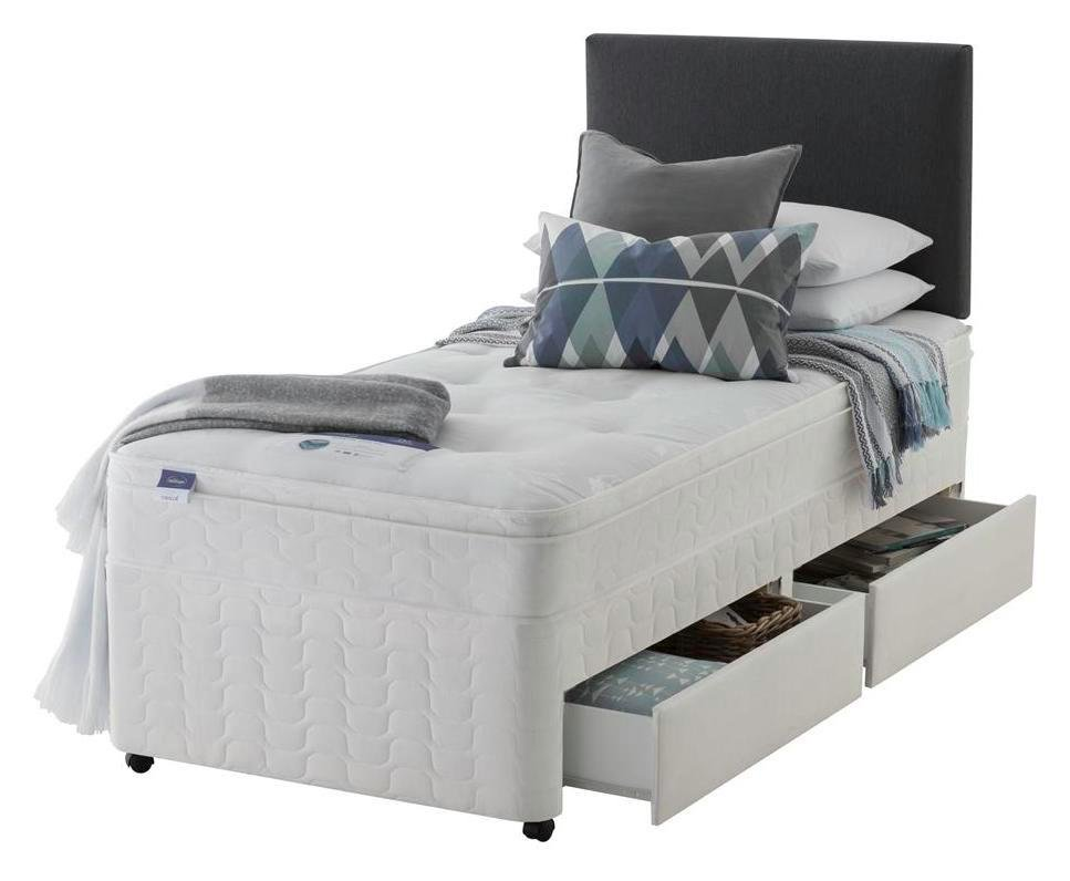 Silentnight Travis Miracoil Ortho 2 Drawer Divan - Single