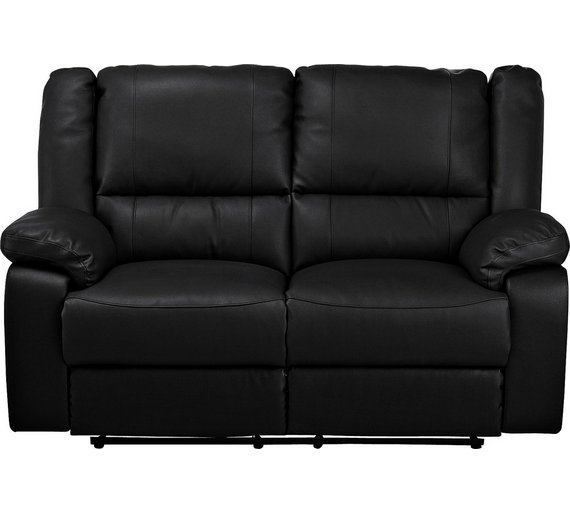 Buy Argos Home Bruno 2 Seater Manual Recliner Sofa Black Sofas