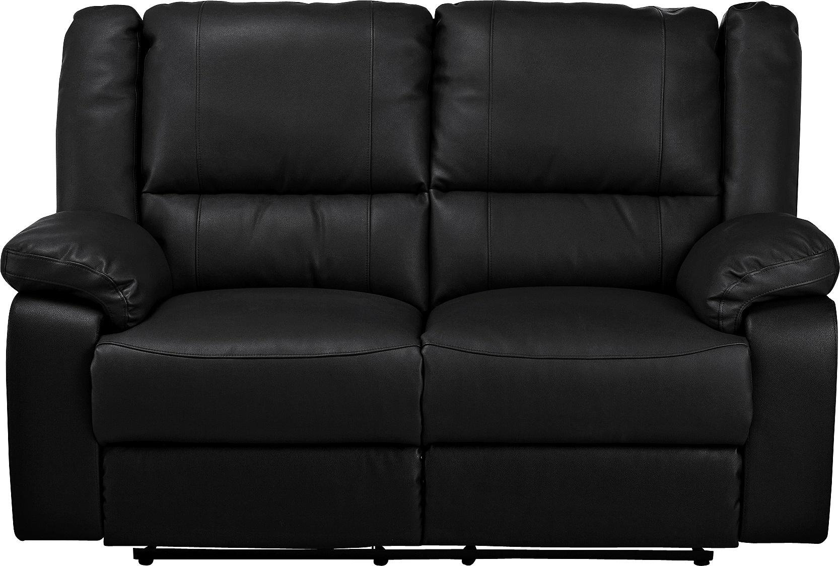 Buy Argos Home Bruno 2 Seater Manual Recliner Sofa Black Sofas