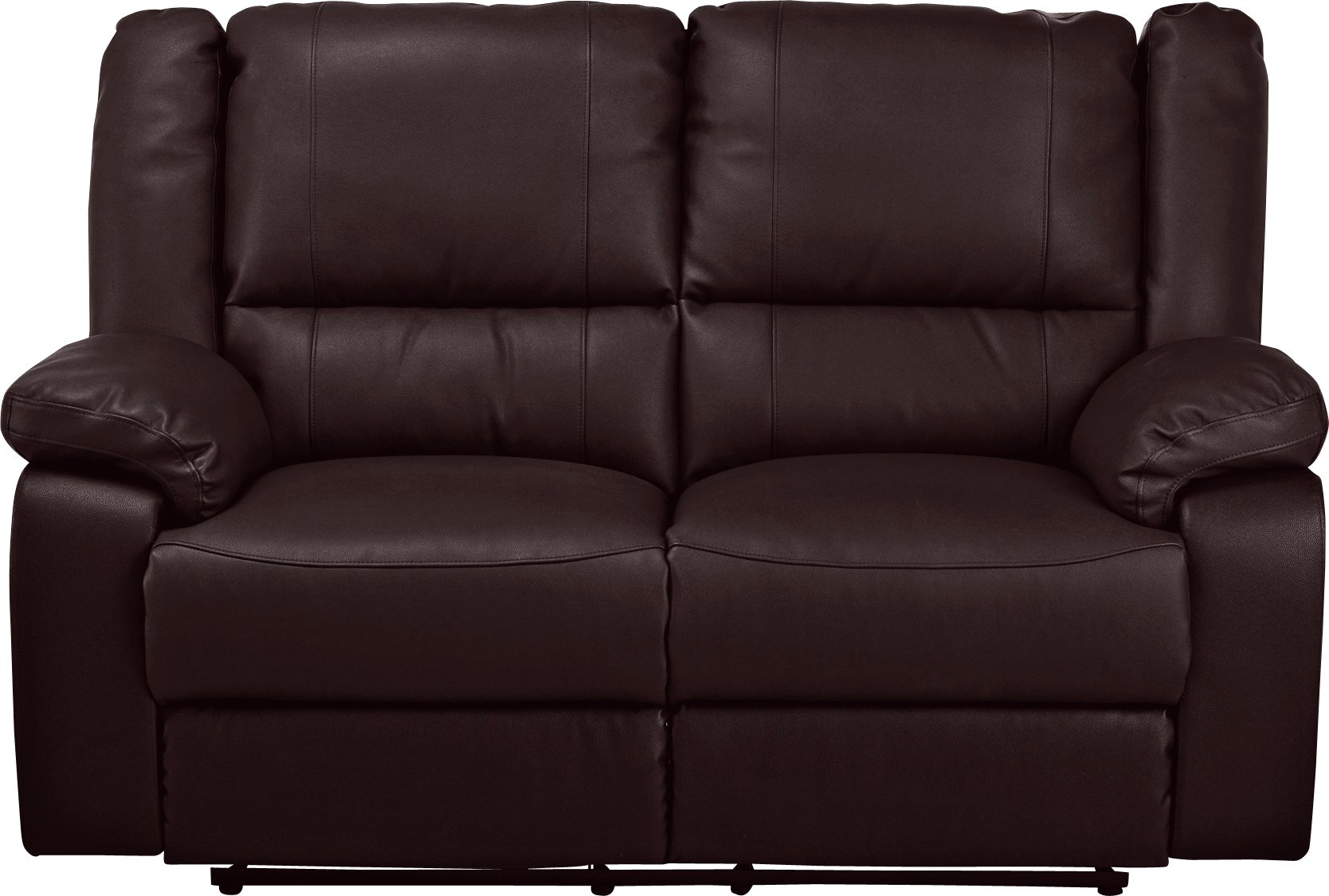 Argos Home Bruno 2 Seater Manual Recliner Sofa - Black