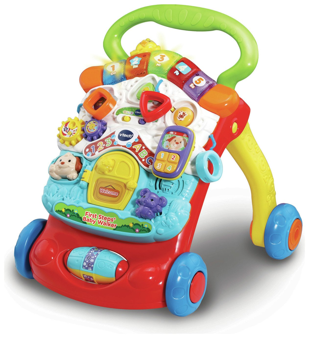 UK Baby Walker First Steps  Bouncer Musical Toys Car Push Along Ride On Go