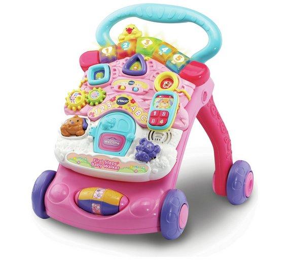Buy Vtech First Steps Baby Walker Pink At Argos Co Uk